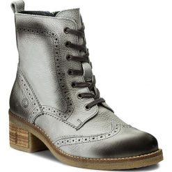 Botki JANA - 8-25200-29 Graphite 206. Szare buty zimowe damskie Jana, ze skóry, na obcasie. W wyprzedaży za 349,00 zł.