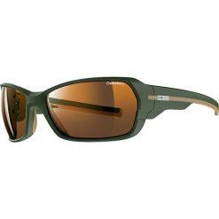 """Okulary przeciwsłoneczne męskie: Okulary przeciwsłoneczne """"Dirt"""" w kolorze oliwkowo-pomarańczowym"""