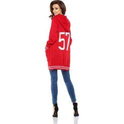 Bolerka i narzutki damskie: Luźny casualowy sweter narzutka  czerwony