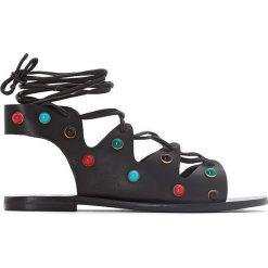 Rzymianki damskie: Skórzane sandały Mago