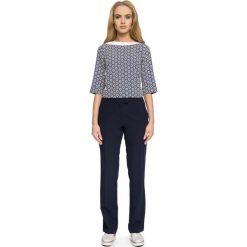 Prosta Kolorowa Bluzka z Nowoczesnymi Detalami - Model 2. Szare bluzki asymetryczne Molly.pl, l, w kolorowe wzory, z jeansu, z długim rękawem. Za 108,90 zł.