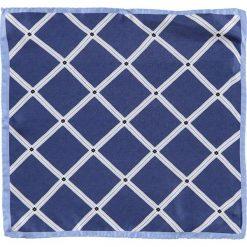 Poszetki męskie: Jedwabna poszetka w kolorze niebieskim – 33 x 33 cm