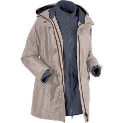 Płaszcz outdoorowy funkcyjny 3 w 1 bonprix brunatno-szary. Brązowe płaszcze damskie bonprix, s, z polaru. Za 299,99 zł.