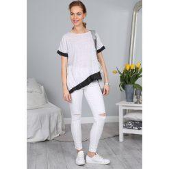 T-shirt Biały 2906. Białe t-shirty damskie Fasardi. Za 19,90 zł.