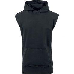 Urban Classics Open Edge Sleeveless Hoodie Bluza z kapturem czarny. Niebieskie bluzy męskie rozpinane marki Urban Classics, l, z okrągłym kołnierzem. Za 99,90 zł.