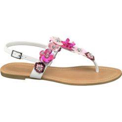 Sandały damskie Graceland białe. Czarne sandały damskie marki Graceland, w kolorowe wzory, z materiału. Za 99,90 zł.