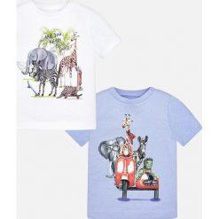 Mayoral - T-shirt dziecięcy 68-98 cm (2-pack). Szare t-shirty męskie z nadrukiem Mayoral, z bawełny. Za 79,90 zł.