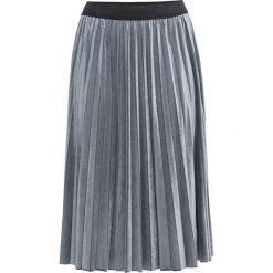 Spódnica aksamitna bonprix niebieskoszary. Niebieskie spódnice wieczorowe marki bonprix, w paski. Za 109,99 zł.