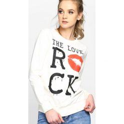 Bluzy damskie: Kremowa Bluza Kiss Back