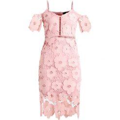 Sukienki: Missguided STRAPPY COLD SHOULDER BODYCON DRESS  Sukienka koktajlowa pink