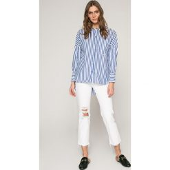 Only - Koszula Melrose. Szare koszule damskie marki ONLY, w paski, z bawełny, casualowe, z klasycznym kołnierzykiem, z długim rękawem. W wyprzedaży za 99,90 zł.
