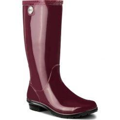 Kalosze UGG - W Shaye 1012350 W/Gar. Czerwone buty zimowe damskie Ugg, z materiału. W wyprzedaży za 299,00 zł.