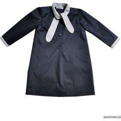 Sukienka Bow Tie. Czarne sukienki dziewczęce z falbanami Pakamera, z bawełny. Za 334,00 zł.