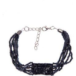 Granatowa bransoletka z koralików QUIOSQUE. Czarne bransoletki damskie na nogę QUIOSQUE. W wyprzedaży za 16,00 zł.