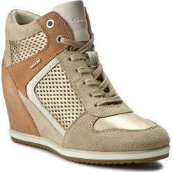 Sneakersy GEOX - D Illusion B D7254B 022BV CH6B5 Lt Taupe/Champagne. Brązowe sneakersy damskie Geox, ze skóry. W wyprzedaży za 379,00 zł.