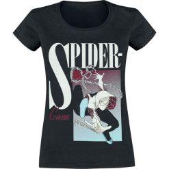 Spider-Man Spider-Gwen Boxed Koszulka damska czarny. Czarne bluzki asymetryczne SPIDER-MAN, l, z nadrukiem, z okrągłym kołnierzem. Za 74,90 zł.
