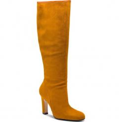 Kozaki STUART WEITZMAN - Charlie YL96210 Bridle Devon. Żółte buty zimowe damskie Stuart Weitzman, ze skóry. Za 3429,00 zł.