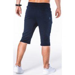 KRÓTKIE SPODENKI MĘSKIE DRESOWE W053 - GRANATOWE. Niebieskie spodenki dresowe męskie marki Ombre Clothing. Za 34,30 zł.