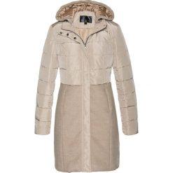Płaszcz pikowany bonprix wielbłądzia wełna. Brązowe płaszcze damskie wełniane marki bonprix. Za 109,99 zł.