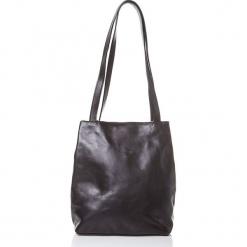 Skórzana torebka w kolorze czarnym - 31 x 35 x 10 cm. Czarne torebki klasyczne damskie I MEDICI FIRENZE, w paski, z materiału. W wyprzedaży za 478,95 zł.