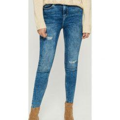 Jeansy skinny z bardzo wysokim stanem - Niebieski. Niebieskie jeansy damskie skinny Sinsay, z jeansu, z podwyższonym stanem. Za 89,99 zł.