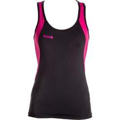 Topy sportowe damskie: Top w kolorze czarno-różowym