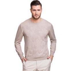 Sweter PIETRO SWER000104. Brązowe swetry klasyczne męskie marki Giacomo Conti, na zimę, m, w kolorowe wzory, z bawełny. Za 169,00 zł.