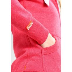 Bluzy rozpinane damskie: Superdry ORANGE LABEL PRIMARY ZIPHOOD Bluza rozpinana wild cherry jaspe