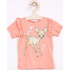 Bluzki dziewczęce bawełniane: Name it - Top dziecięcy Disney Bambi 80-110 cm
