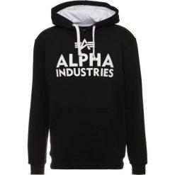 Bejsbolówki męskie: Alpha Industries FOAM PRINT HOODY Bluza z kapturem black/white