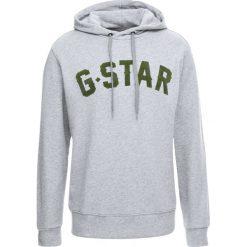 GStar HALGEN CORE HOODED Bluza z kapturem grey heather. Szare bluzy męskie rozpinane marki G-Star, m, z bawełny, z kapturem. Za 419,00 zł.