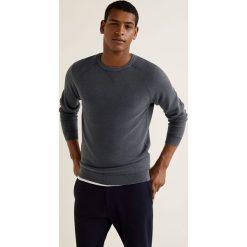 Mango Man - Sweter Lavado. Czarne swetry klasyczne męskie Mango Man, l, z bawełny, z okrągłym kołnierzem. W wyprzedaży za 89,90 zł.