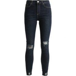 Miss Selfridge RAW HEM LIZZI Jeans Skinny Fit indigo. Niebieskie rurki damskie Miss Selfridge. Za 149,00 zł.
