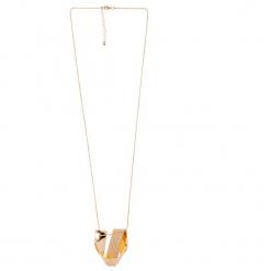 Złoty naszyjnik z nieregularną ozdobą QUIOSQUE. Żółte naszyjniki damskie QUIOSQUE, złote. W wyprzedaży za 19,99 zł.