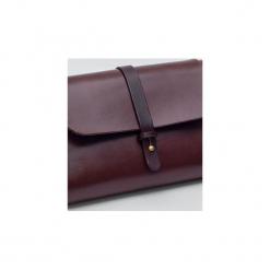 Torebka z drewnem R4 mahoń. Czerwone torebki klasyczne damskie Republic, w paski, z lakierowanej skóry, duże. Za 410,00 zł.