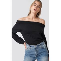 Rut&Circle Bluza z odkrytymi ramionami - Black. Czarne bluzy rozpinane damskie Rut&Circle, z długim rękawem, długie. Za 80,95 zł.
