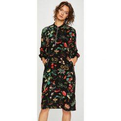 Medicine - Sukienka Secret Garden. Czarne sukienki na komunię marki MEDICINE, na co dzień, l, z tkaniny, casualowe, midi. Za 139,90 zł.