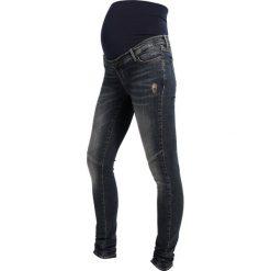 Jeansy damskie: Supermom Jeans Skinny Fit grey blue denim