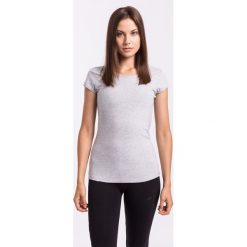 T-shirty damskie: T-shirt damski TSD300Z – jasny szary melanż – 4F