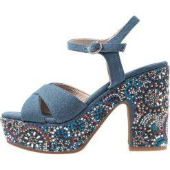 Sandały damskie: Alma en Pena Sandały na obcasie denim blue