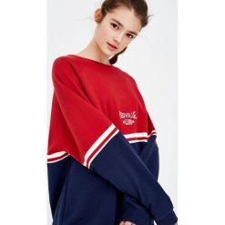 Bluzy damskie: Bluza z dwukolorowymi elementami