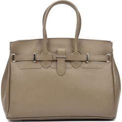 Torebki i plecaki damskie: Skórzana torebka w kolorze fango – (S)28 x (W)37 x (G)17 cm