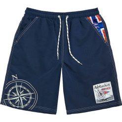 """Szorty kąpielowe """"Tornio"""" w kolorze granatowym. Niebieskie szorty męskie marki Nebulus, z nadrukiem. W wyprzedaży za 87,95 zł."""