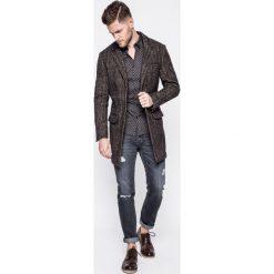 Premium by Jack&Jones - Koszula. Szare koszule męskie na spinki marki S.Oliver, l, z bawełny, z włoskim kołnierzykiem, z długim rękawem. W wyprzedaży za 89,90 zł.