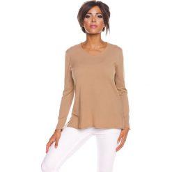 """Sweter """"Jill"""" w kolorze karmelowym. Swetry klasyczne damskie marki 100% Maille, s, z okrągłym kołnierzem. W wyprzedaży za 129,95 zł."""