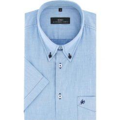 Koszula SERGIO slim 16-01-16-K. Brązowe koszule męskie na spinki marki QUECHUA, m, z elastanu, z krótkim rękawem. Za 169,00 zł.