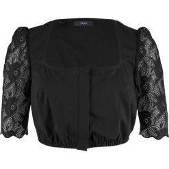 Bluzki damskie: Bluzka ludowa z koronkowymi rękawami bonprix czarny