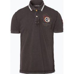 Napapijri - Męska koszulka polo – Gandy 1, szary. Szare koszulki polo marki Napapijri, l, z materiału, z kapturem. Za 229,95 zł.