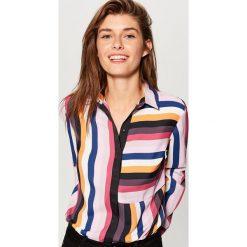 Koszula w paski - Wielobarwn. Szare koszule wiązane damskie Mohito, w paski. Za 99,99 zł.