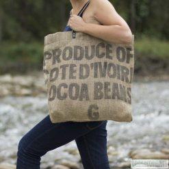 Torebki i plecaki damskie: Torba Duża z worka po kakao – TRYKOT